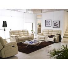 Sofá de salón con sofá moderno de cuero genuino (924)
