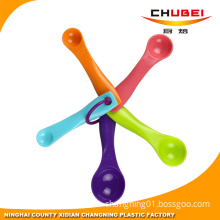 Food Grade 5 in 1 Plastic Measuring Spoon with Double Scale