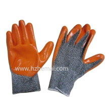 Hppe Gloves Nitrile Coated Anti Cut Gloves Safety Work Glove