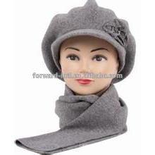 Fashion Style Flower Elegant Knitted Lady Hat