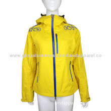 Windbreaker jacket in 3 layers fabric with tricot on inner side. with waterproof zipper