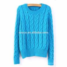 15PKSW30 женщин классический кабель вязать зима толстый свитер
