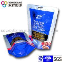 Levante el bolso de empaquetado plástico para el bolso del alimento del animal doméstico
