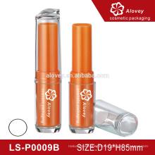 Orange cute cosmetic packaging Empty Plastic Lip Balm Container Mouth Lip Balm Cosmetic Container