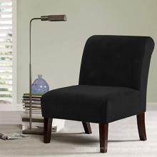 Чехлы на стулья с бархатным акцентом Эластичные чехлы на стулья без рукавов