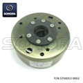 GY6 125,152 QMI BT125 8 Postes Fly wheel (P / N: ST04053-0002) Calidad superior