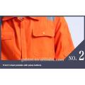 Durable Naranja EN471 Cintas Reflectante Seguridad Mono de trabajo de construcción Ropa de trabajo con 2 bolsillos en el pecho