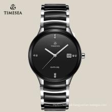 Hot Sale Black Ceramic Unique Quartz Men′s Wrist Watches 72116