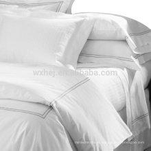 100% algodão tecido bordado máquina de cama set-- set capa de edredão