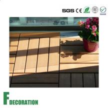 Instalación fácil al aire libre WPC DIY Decking Tiles