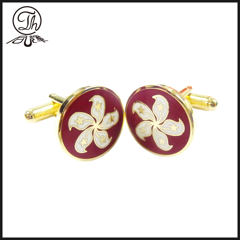 Flower logo cufflinks
