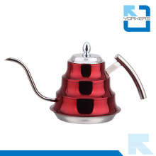 Bouilloire à eau et thé en acier inoxydable en forme de bambou