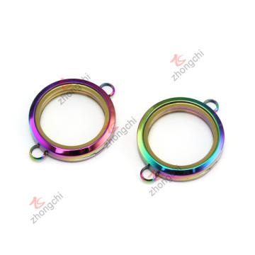 Alta calidad 30 mm plateado pulsera de colores redondos llanuras llaves (cbr50925)