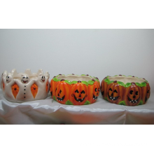 Ceramic Pumpkin Bowl for Halloween