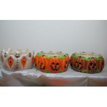 Keramik Kürbisschale für Halloween