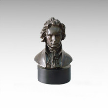 Busts Brass Statue Musician Chopin Decor Bronze Sculpture Tpy-798