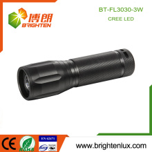 Factory Custom Made Handheld 3 Modes Light Multi-function Strobe 3w USA Cree Metal Material High Power led Focus Flashlight