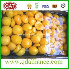 Frutas congeladas IQF Amarillo Melocotón Mitades