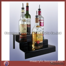 Acrylic transparent three-layer elegant table top bottle display holder