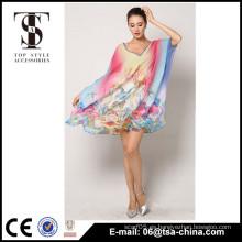 El traje de baño de los bañadores del traje de baño del bikiní de la impresión de la alta calidad cubre para arriba el vestido de la playa