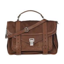 Medium Size Calf Hair Satchel/Leather Shoulder Bag, top handle, detachable buckled shoulder strap