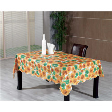 Hot Popular Colorful Design PVC Printed Table Cover with Fabric Backing