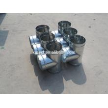 Воздуховод тройник для соединения вентиляционной трубы спирали