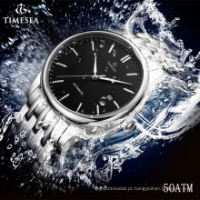 Superior Aço Inoxidável Mecânico Mens Automatic Watch 72320