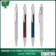 Premier stylo à bille en métal rétractable en papier de bureau A001