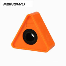 Portable ABS Injection Molding Logo Cube Cube Shaped Interview Mic Microphone Flag Station