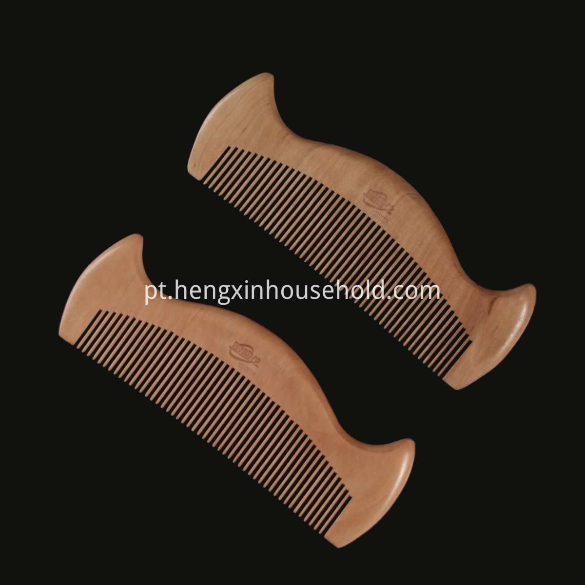 Wooden Moustache Comb
