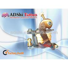 2013 ADShi 8 wickelt Metall Glanz Brawn Birdlike Design handgefertigte Tattoo Maschine Pistole
