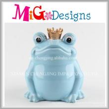 Concise Frog Design Hand-Make Ceramic Coin Box