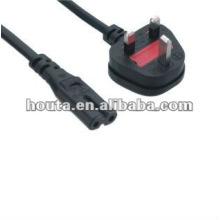 Reino Unido cable de alimentación de CA aprobación BS