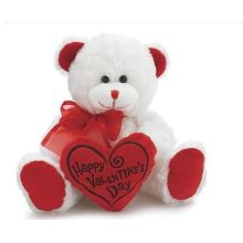 Hold the heart white bear cute plush dolls dolls