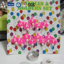 Set lujo feliz cumpleaños vela para pastel