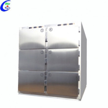 Refrigerador médico de acero inoxidable con congelador de morgue
