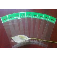 Bolso transparente de plástico OPP con cabezal y agujero de perforación