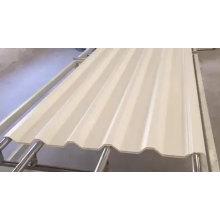 Hoja decorativa de techo de plástico hueco de PVC asa