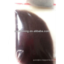 polyester dope dyed staple fiber 1.4D*38MM red coffee color