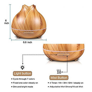 400ml Ultrasonic Time Setting Scent Diffuser Wood