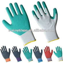 13gauge nylon latex foam garden working gloves