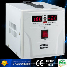 HOT SELL !SCIENTEK Full Range Voltage Regulator 2000VA 1200W for home appliance wall mount