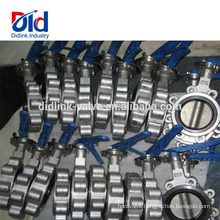 Type Installation Air Eccentric Gasket Sanitary Stainless Steel Cf8 Tapped Lug Butterfly Valve Part