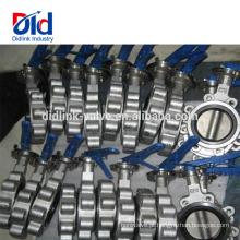 Tipo Instalação Junta De Ar Excêntrico Sanitária De Aço Inoxidável Cf8 Lug Tapped Válvula Borboleta Parte