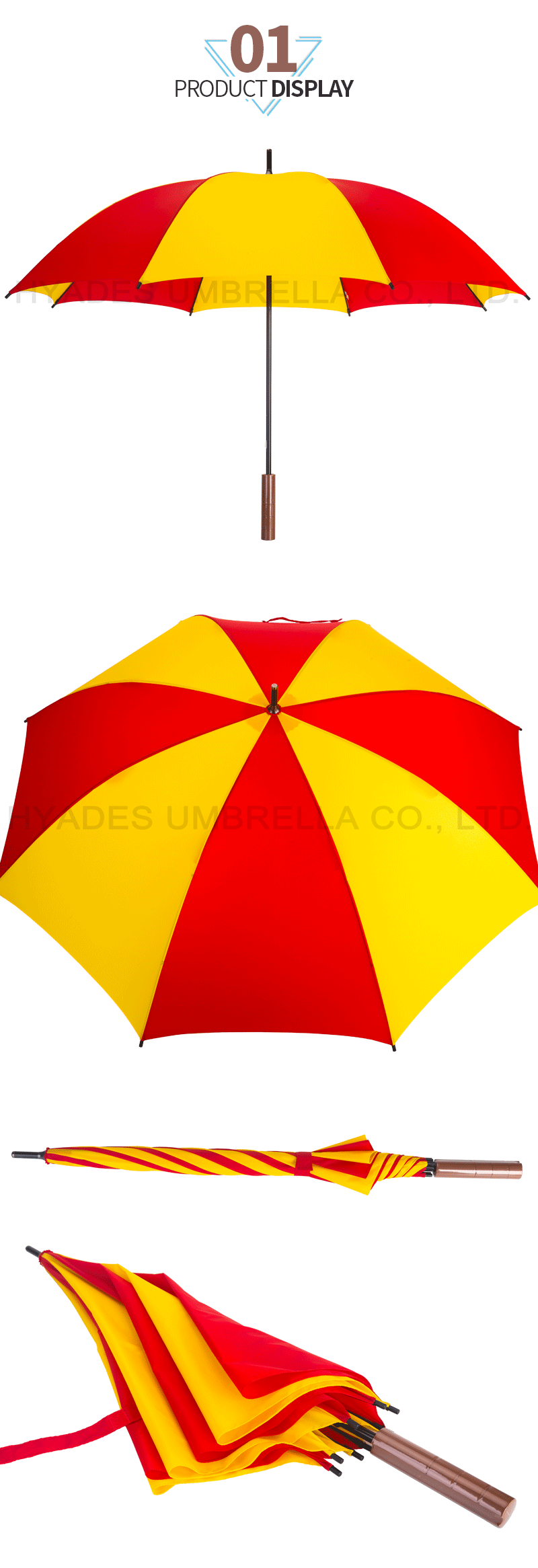 Make To Order Manual Open Straight Umbrella
