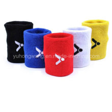 Venta al por mayor de algodón Terry Sports Wristband / Headband
