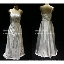 [В наличии] классический греческий одно плечо вечернее платье Пром платье со складками бай-14057