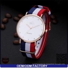 Yxl-618 Diamant Nato Strap Luxus Vogue Uhr Quarz Modische Edelstahl Gehäuse Armbanduhr Japan Miyota Uhr