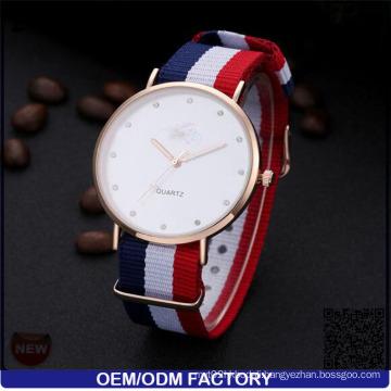 Yxl-618 Diamond Nato Strap Luxury Vogue Watch Quartz Fashionable Stainless Steel Case Wristwatch Japan Miyota Watch